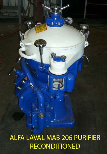 Reconditioned Alfa Laval MAB 206 Solids Retaining, High Sped disc bowl centrifugal separator