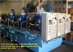 Diesel Fuel Treatment system with three reconditioned Alfa Laval Centrifuges, for Solar Gas Turbines.