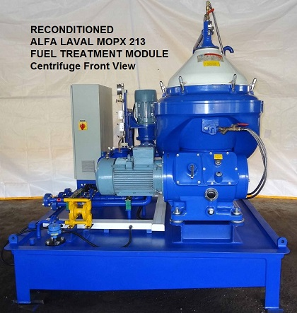 Reconditioned Alfa Laval MOPX 213 Self Cleaning, High Speed disc bowl centrifugal separator